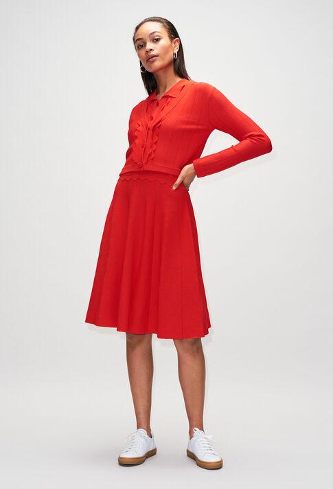 MYOSOTISH19 : Kleider farbe ROUGE