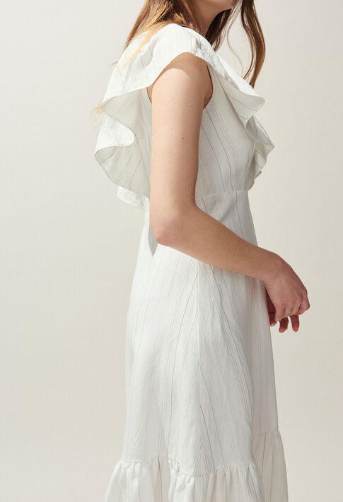 ROUCAS : Kleider farbe Ecru