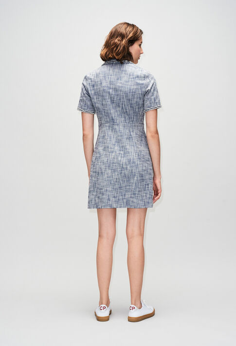 RINOH19 : Kleider farbe CHAMBRAY FONCE - SHIRTING