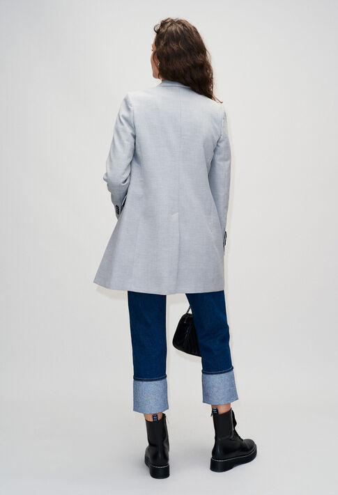 GINOH19 : Mäntel & Blousons farbe GRIS CHINE CLAIR