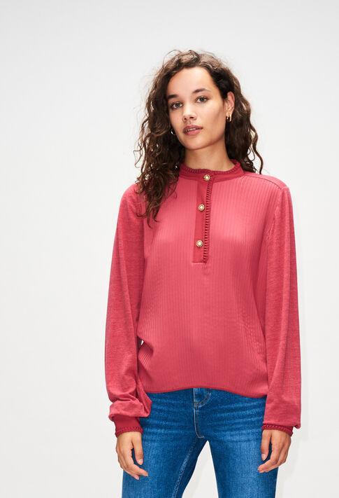TRUDIEH19 : T-Shirts couleur CERISE