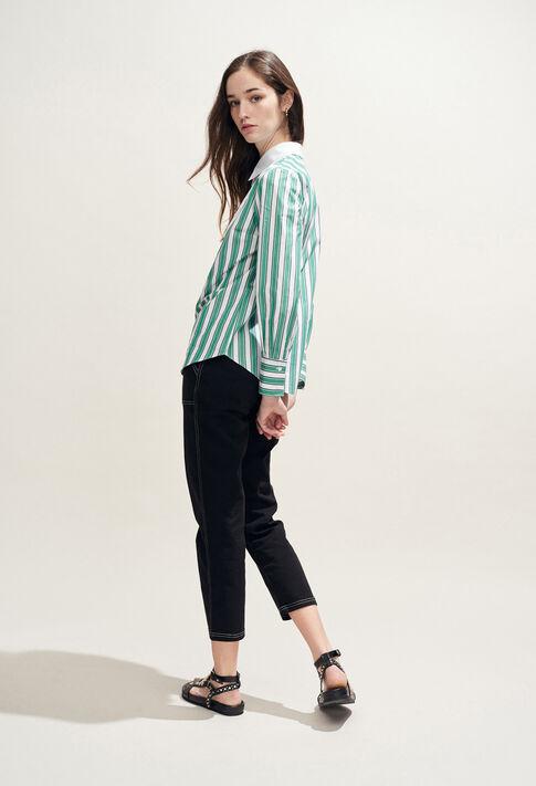 CAJOU : Tops & chemises couleur VERT IMPERIAL