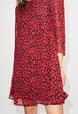 RIFIFILEOPARDH19 : Kleider farbe CERISE