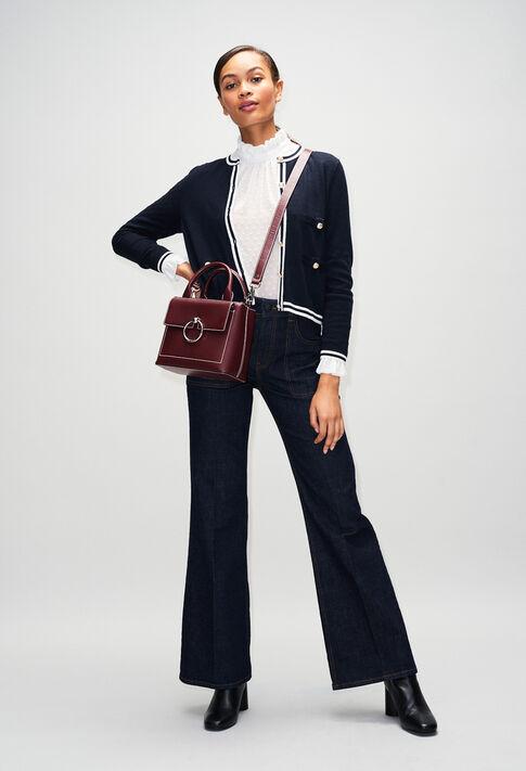 ANOUCKSMALLSADDLESTITCHH19 : Taschen und Lederwaren farbe Carmin