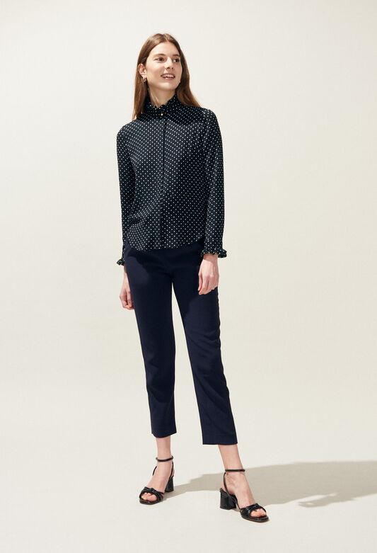 COLOMBINE POIS : Tops et Chemises couleur MARINE