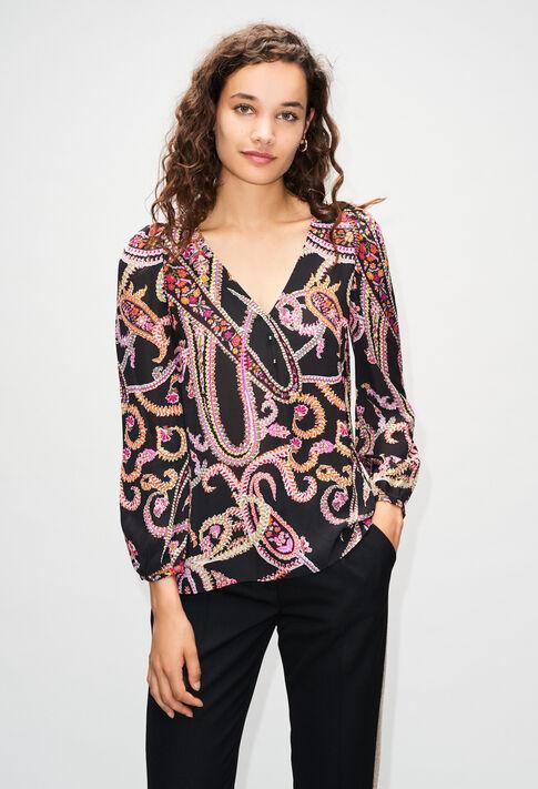 BERTILLEH19 : Tops et Chemises couleur PRINT