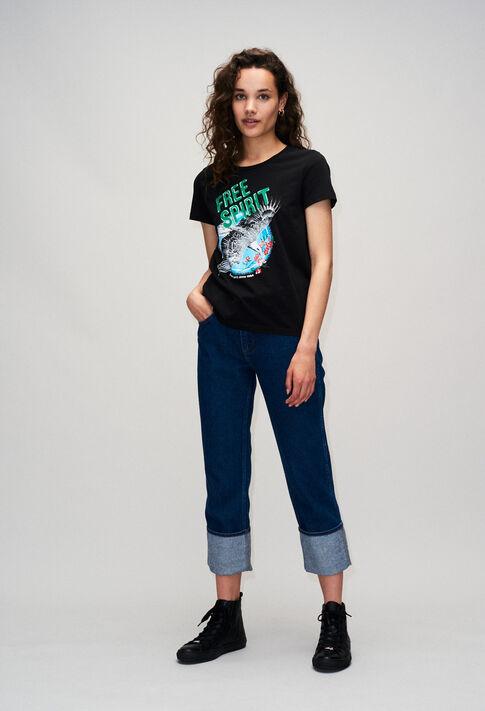TESSIEH19 : T-Shirts farbe NOIR