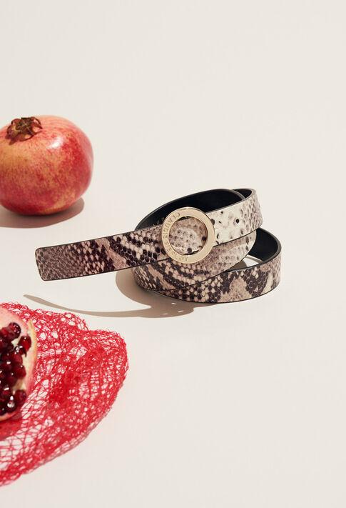 ALIGATO SNAKE : Accessories couleur Beige