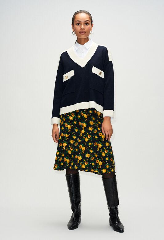 MASCYH19 : Maille & Sweatshirts couleur MARINE
