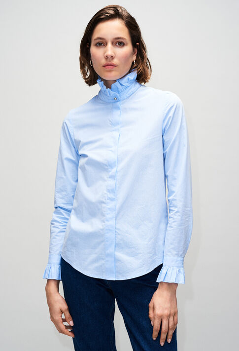 COLOMBEH19 : Tops et Chemises couleur CHAMBRAY CLAIR - SHIRTING