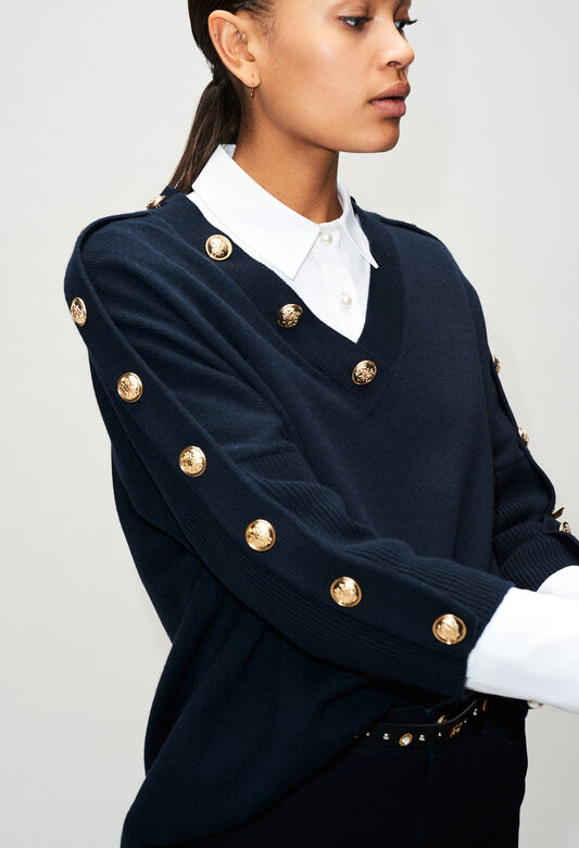 MANCEAUH19 : Strick & Sweatshirts farbe MARINE
