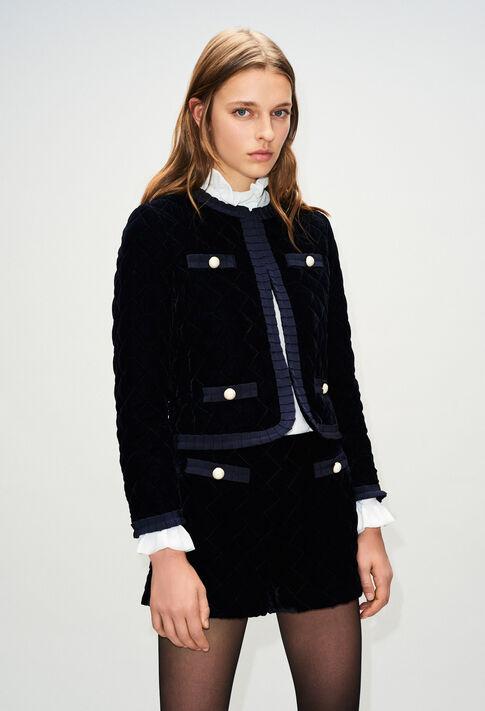 VELOUTEH19 : Jacken farbe MARINE