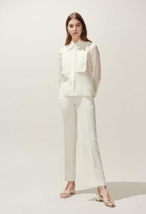 POURPRE BIS : Hosen & Jeans farbe Ivoire