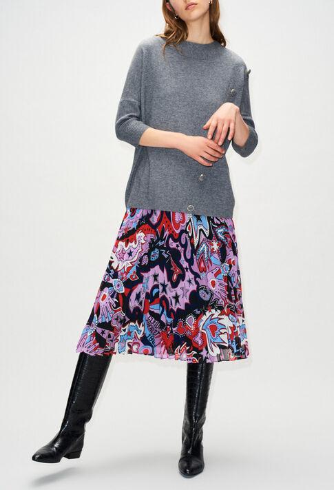 MARYH19 : Strick & Sweatshirts farbe GRIS CHINE FONCE