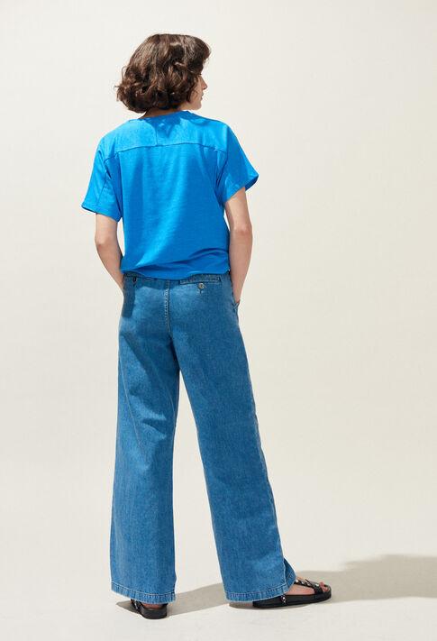 TALLY : T-Shirts couleur BLEU TRANSAT