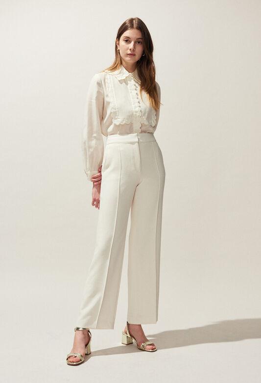 POURPRE BIS : Pantalons et Jeans couleur IVOIRE