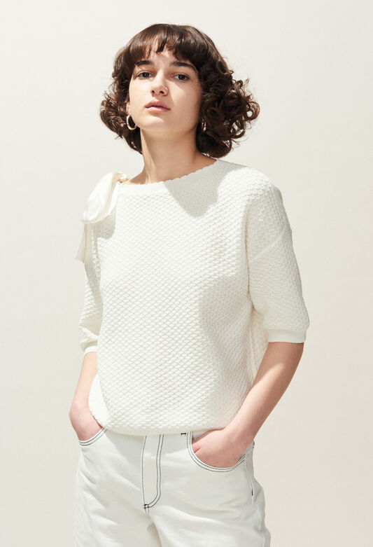MAGDA : Maille & Sweatshirts couleur ECRU