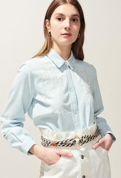 CERFEUIL : Tops et Chemises couleur Ciel