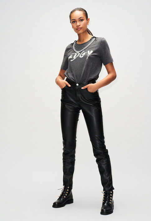 TEDGYH19 : T-Shirts couleur GRIS CHINE FONCE