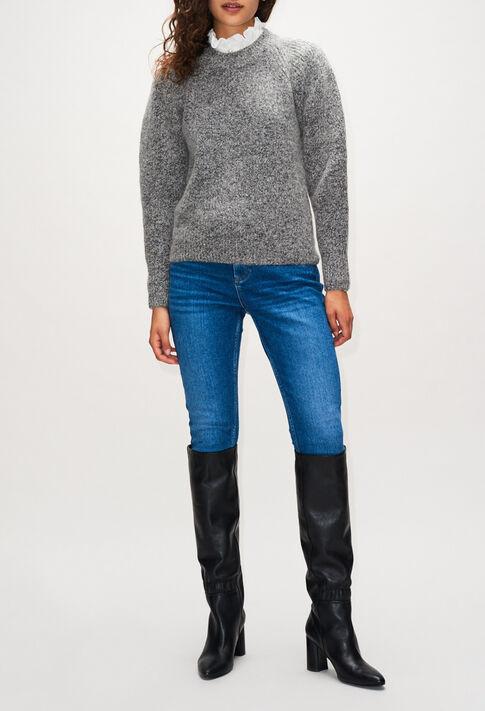 MATUREH19 : Strick & Sweatshirts farbe GRIS CHINE CLAIR