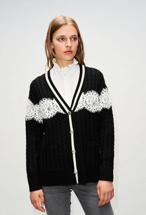 MIELH19 : Maille & Sweatshirts couleur NOIR
