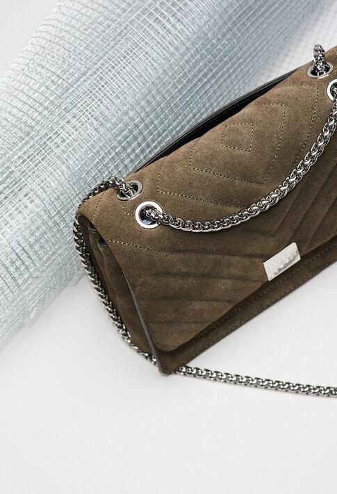 ANGELAQUILTSUEDEH19 : Taschen und Lederwaren farbe KAKI