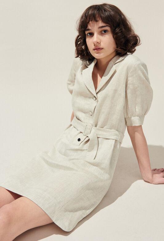 ROSEA : Kleider farbe NATUREL