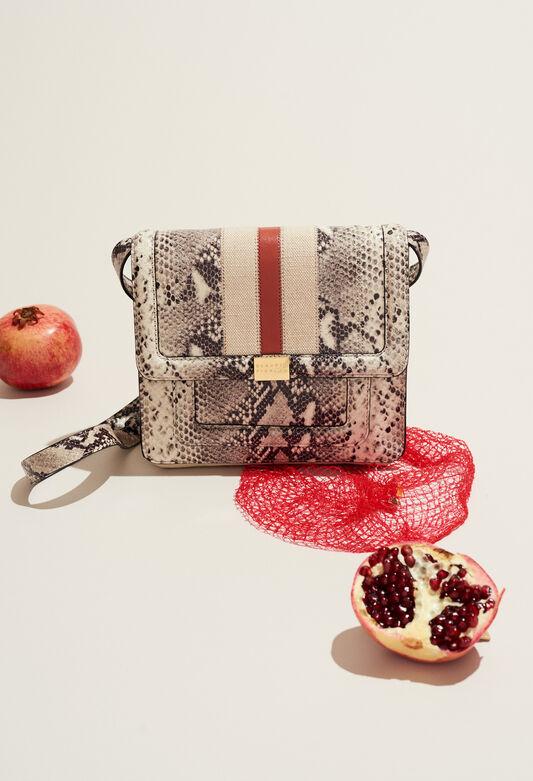 ANGELA STRIPES SNAKE : Taschen und Lederwaren farbe BEIGE