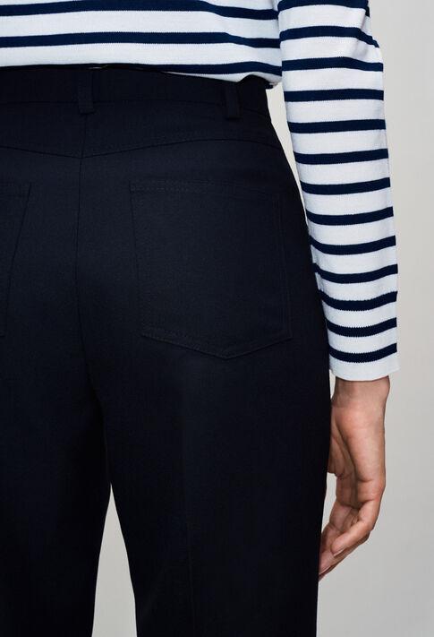 PANGOH19 : Pantalons et Jeans couleur MARINE