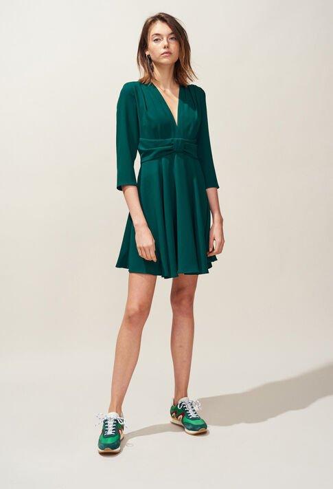 RAINA : Kleider farbe VERT IMPERIAL