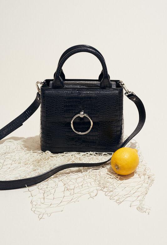 ANOUCK SMALL REPTILE CROCO : Taschen und Lederwaren farbe MARINE