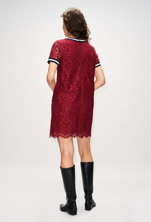 ROMILOAH19 : Kleider farbe CERISE