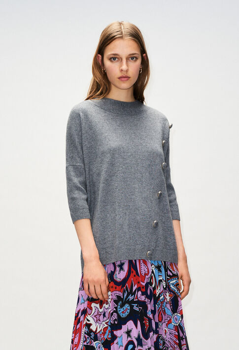 MARYH19 : Strick & Sweatshirts farbe GRIS CHINE FONCE