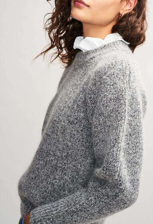 MATUREH19 : Maille & Sweatshirts couleur GRIS CHINE CLAIR