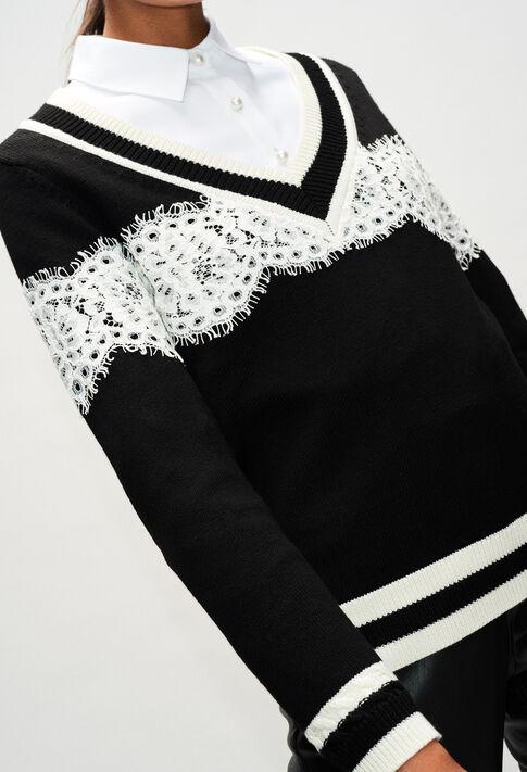 MIKEH19 : Maille & Sweatshirts couleur NOIR