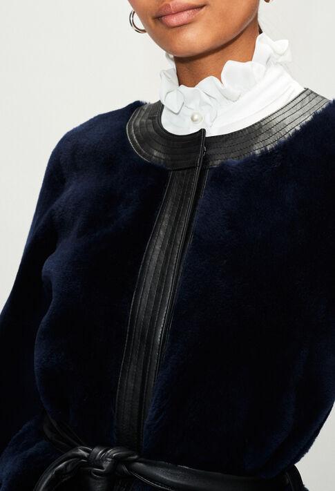 FLEURH19 : Manteaux et Blousons couleur MARINE