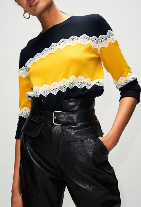MAGNIAH19 : Maille & Sweatshirts couleur MARINE