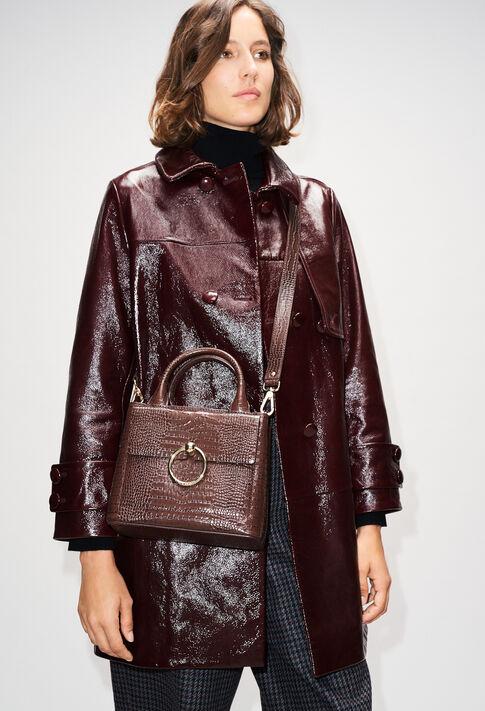 ANOUCKSMALLREPTILECROCOH19 : Taschen und Lederwaren farbe CHOCOLAT