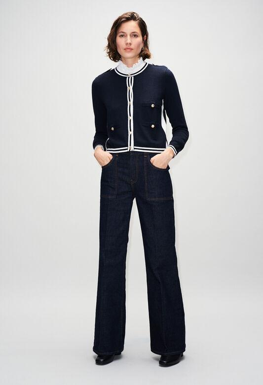 MAXIMERH19 : Maille & Sweatshirts couleur MARINE