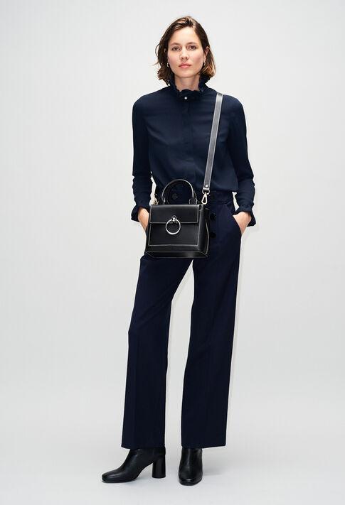 ANOUCKSMALLSADDLESTITCHH19 : Taschen und Lederwaren farbe NOIR