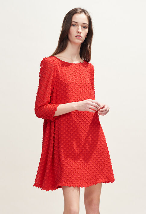 RIFIFI NUAGE : Kleider farbe Ecarlate
