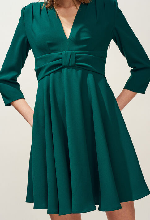 RAINA : Robes couleur VERT IMPERIAL