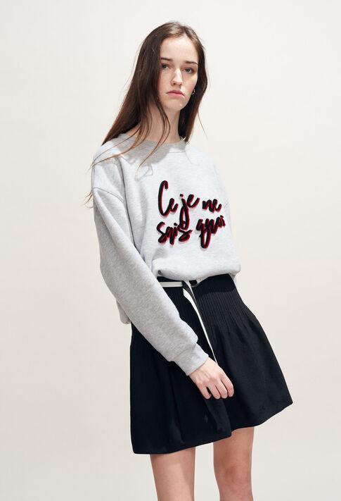 TRUDIE : Strick & Sweatshirts farbe Gris Chine