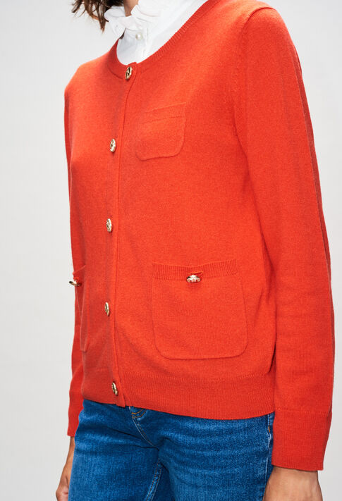 MILLYH19 : Strick & Sweatshirts farbe ORANGE