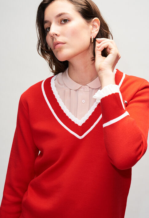 MAKYH19 : Strick & Sweatshirts farbe ROUGE