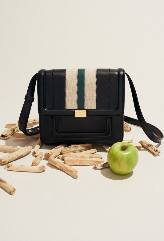ANGELA STRIPES : Taschen und Lederwaren farbe NOIR
