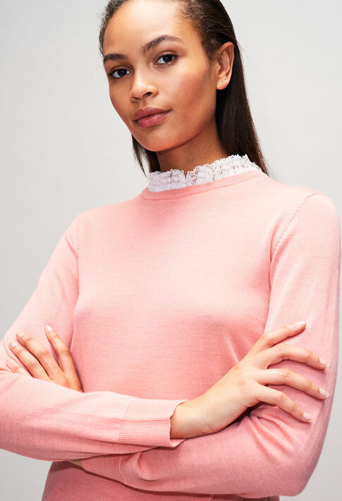 MIRAGEBisH19 : Strick & Sweatshirts farbe ROSE PECHE