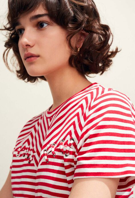 TOSCANE : T-Shirts couleur Ecarlate