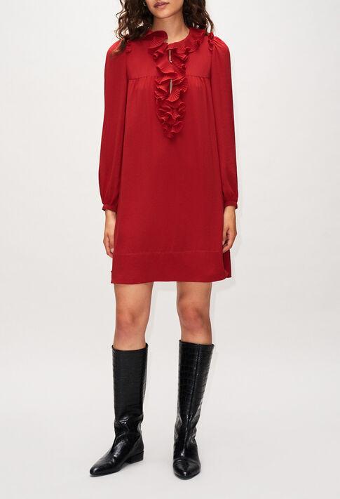 ROXANEH19 : Kleider farbe CERISE