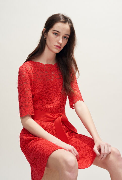 ROSELIE BIS : Kleider farbe Ecarlate